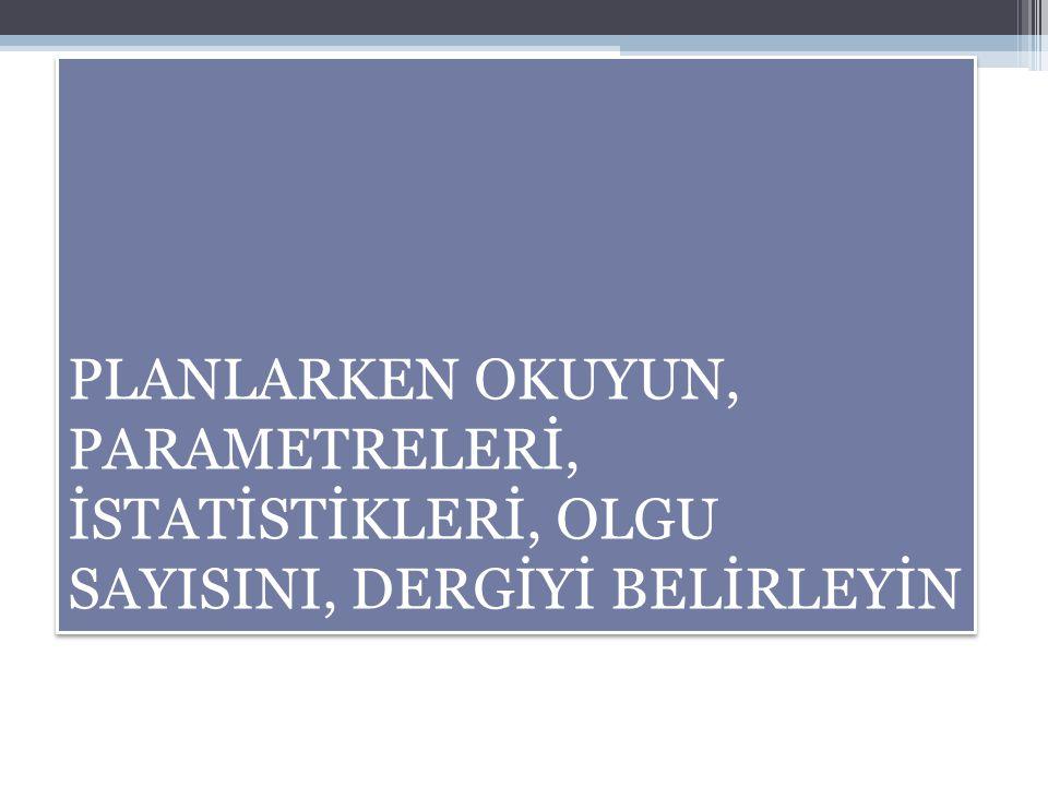 OturumHİPOTEZİNİZ BELLİ.