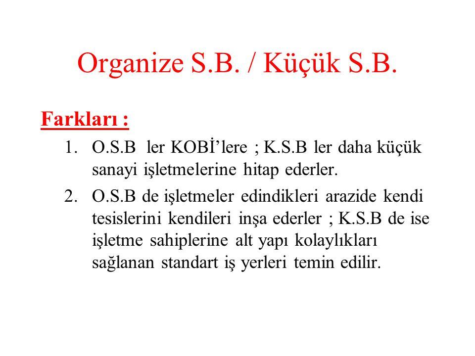 Organize S.B./ Küçük S.B.