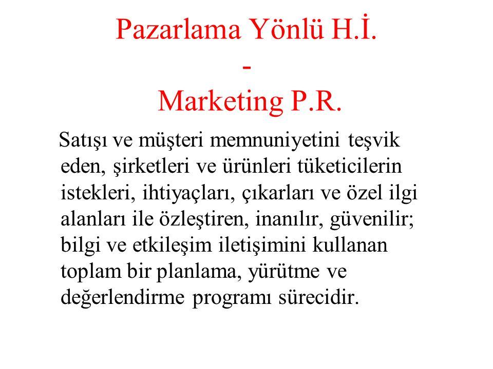 Pazarlama Yönlü H.İ.- Marketing P.R.