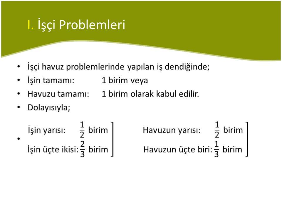 I. İşçi Problemleri •