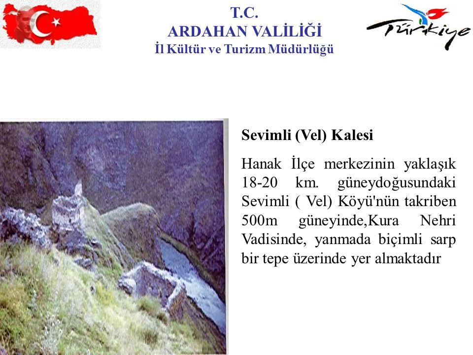 T.C. ARDAHAN VALİLİĞİ İl Kültür ve Turizm Müdürlüğü Sevimli (Vel) Kalesi Hanak İlçe merkezinin yaklaşık 18-20 km. güneydoğusundaki Sevimli ( Vel) Köyü