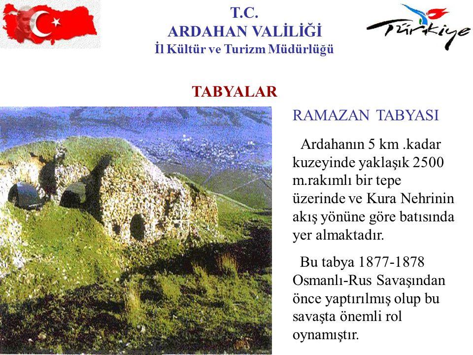 T.C. ARDAHAN VALİLİĞİ İl Kültür ve Turizm Müdürlüğü TABYALAR RAMAZAN TABYASI Ardahanın 5 km.kadar kuzeyinde yaklaşık 2500 m.rakımlı bir tepe üzerinde