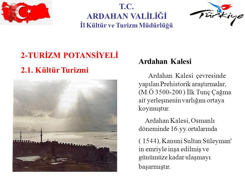 T.C.ARDAHAN VALİLİĞİ İl Kültür ve Turizm Müdürlüğü 2-TURİZM POTANSİYELİ 2.1.