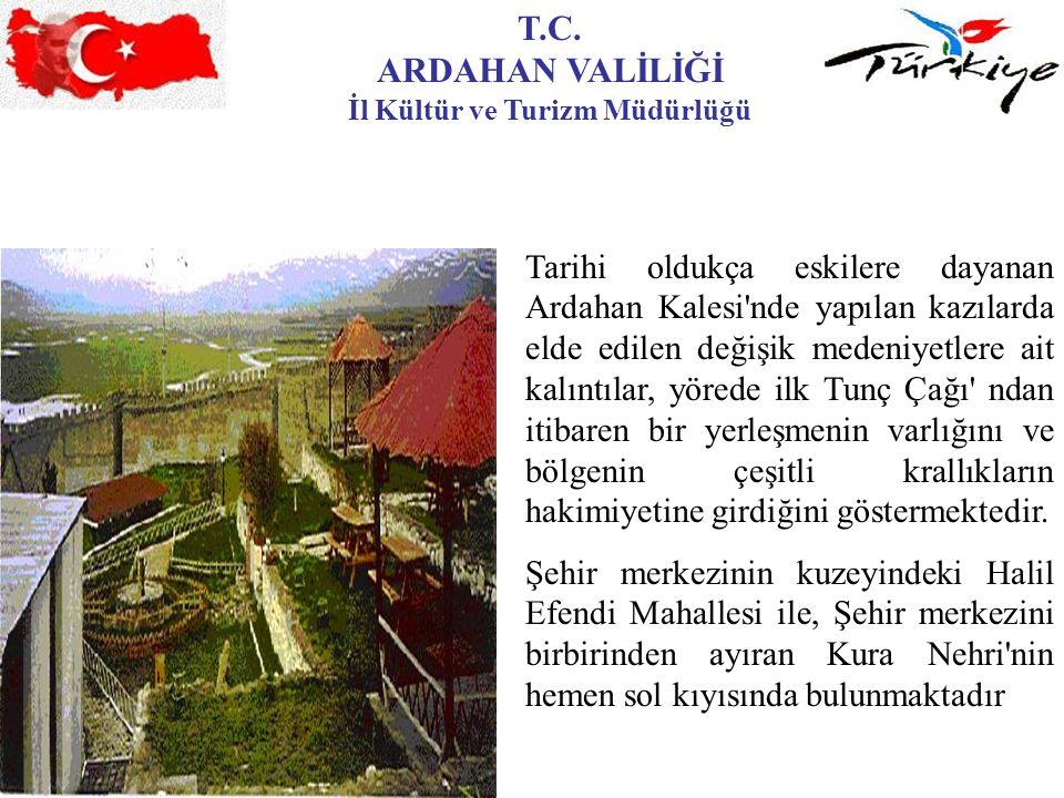T.C. ARDAHAN VALİLİĞİ İl Kültür ve Turizm Müdürlüğü Tarihi oldukça eskilere dayanan Ardahan Kalesi'nde yapılan kazılarda elde edilen değişik medeniyet