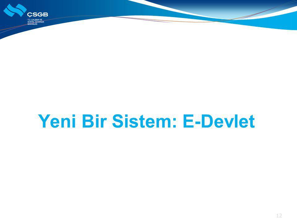 Yeni Bir Sistem: E-Devlet 12