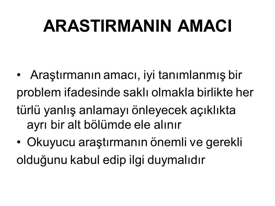 Kaynaklar 1.Arikan,R. araştırma Teknikleri ve Rapor Hazırlama ,Ankara,2004 2-Aslantürk,Z.