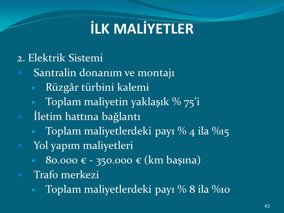 İLK MALİYETLER 2.