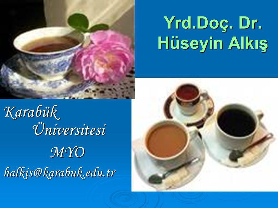 Yrd.Doç. Dr. Hüseyin Alkış Karabük Üniversitesi MYO MYOhalkis@karabuk.edu.tr
