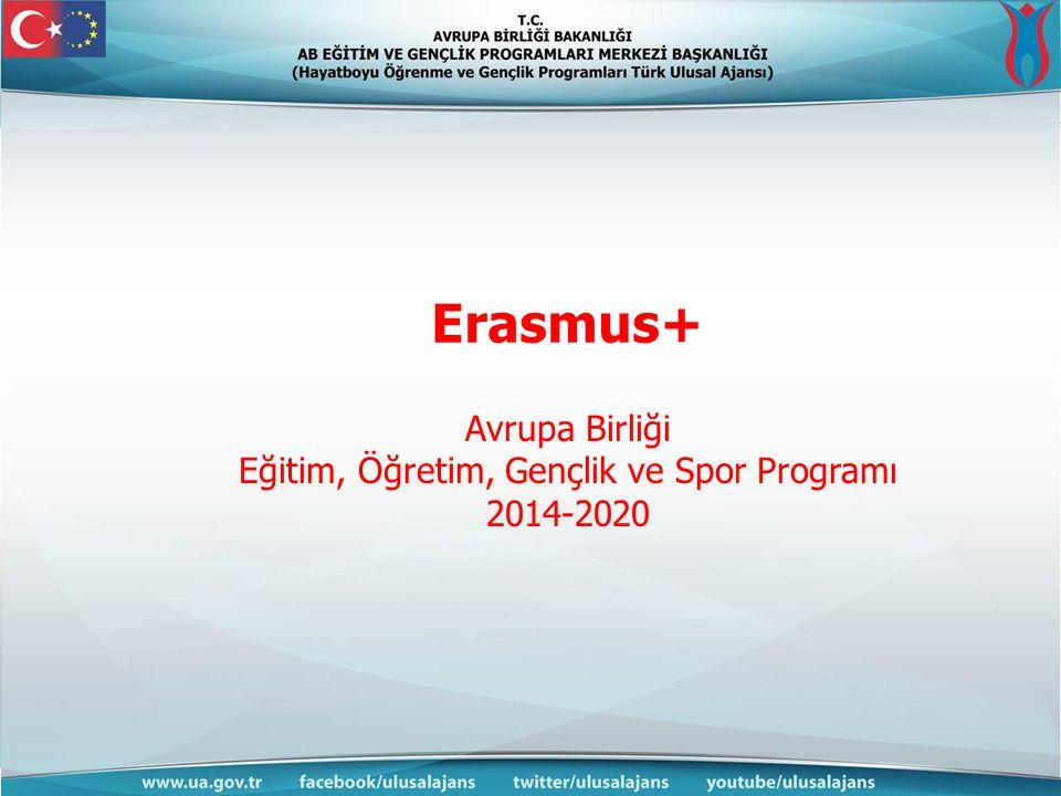 Erasmus+ Avrupa Birliği Eğitim, Öğretim, Gençlik ve Spor Programı 2014-2020