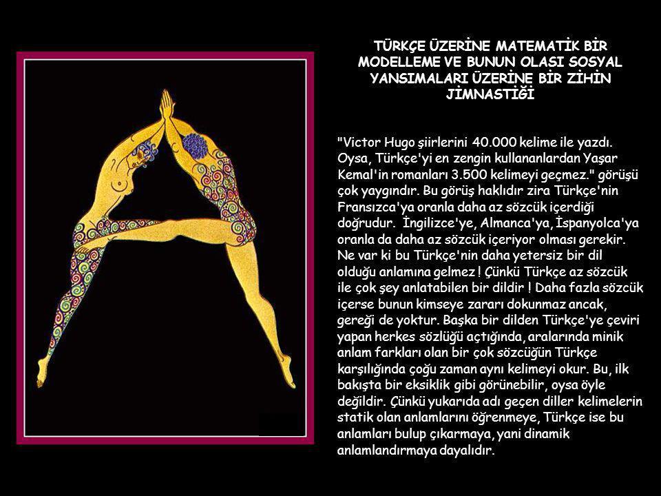 Şimdi Türk Dili ile ilgili internette e-mail olarak dolaşan ve bana da ulaşan ilginç bir çalışmaya birlikte göz atalım.