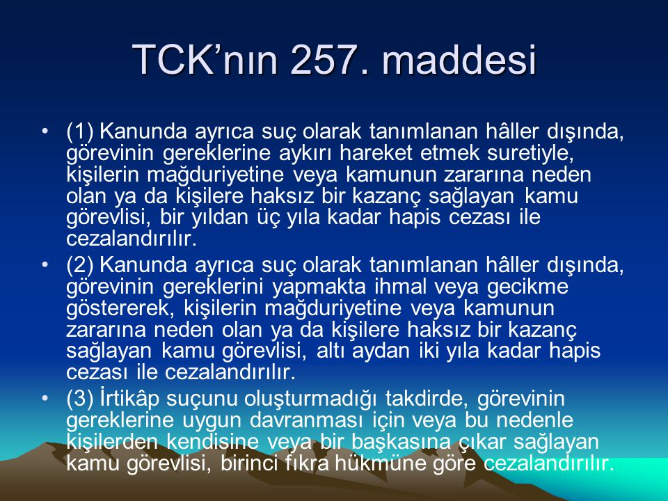 TCK'nın 257.