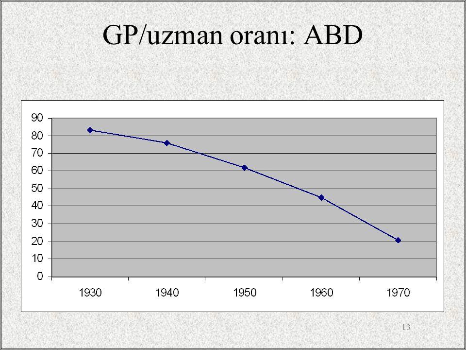 13 GP/uzman oranı: ABD