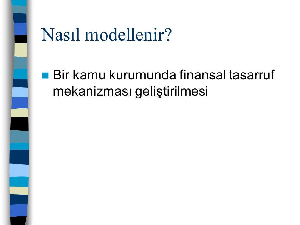 Nasıl modellenir?  Bir kamu kurumunda finansal tasarruf mekanizması geliştirilmesi