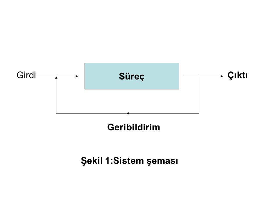 Süreç GirdiÇıktı Geribildirim Şekil 1:Sistem şeması