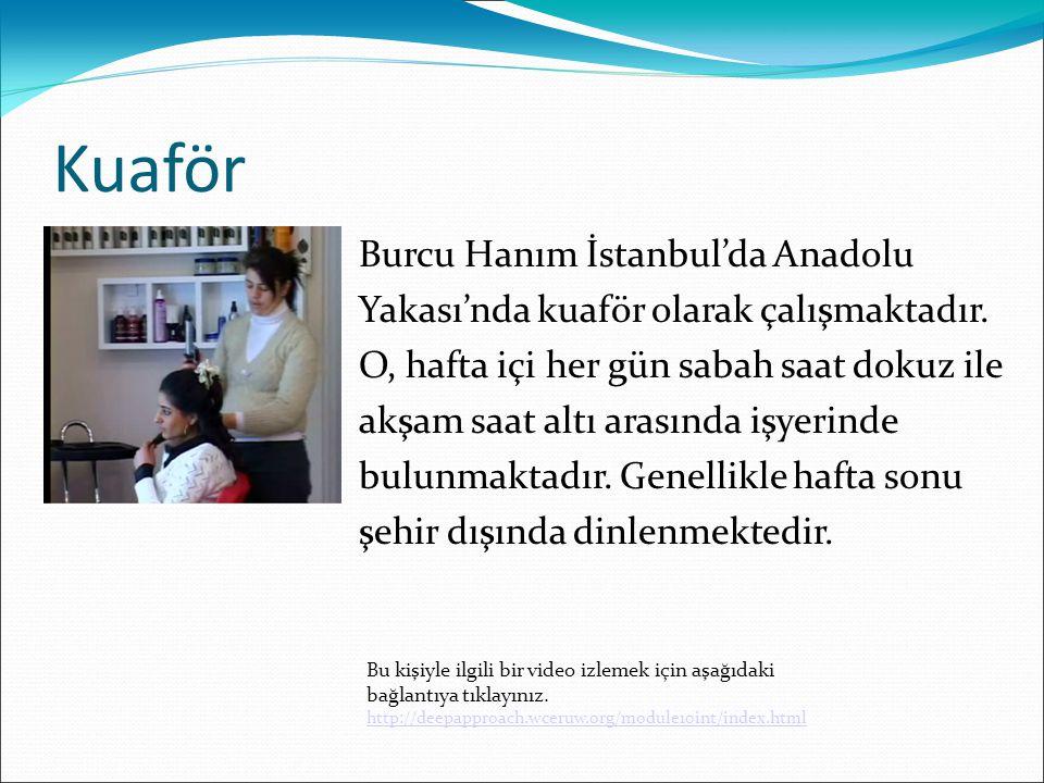 Kuaför Burcu Hanım İstanbul'da Anadolu Yakası'nda kuaför olarak çalışmaktadır.