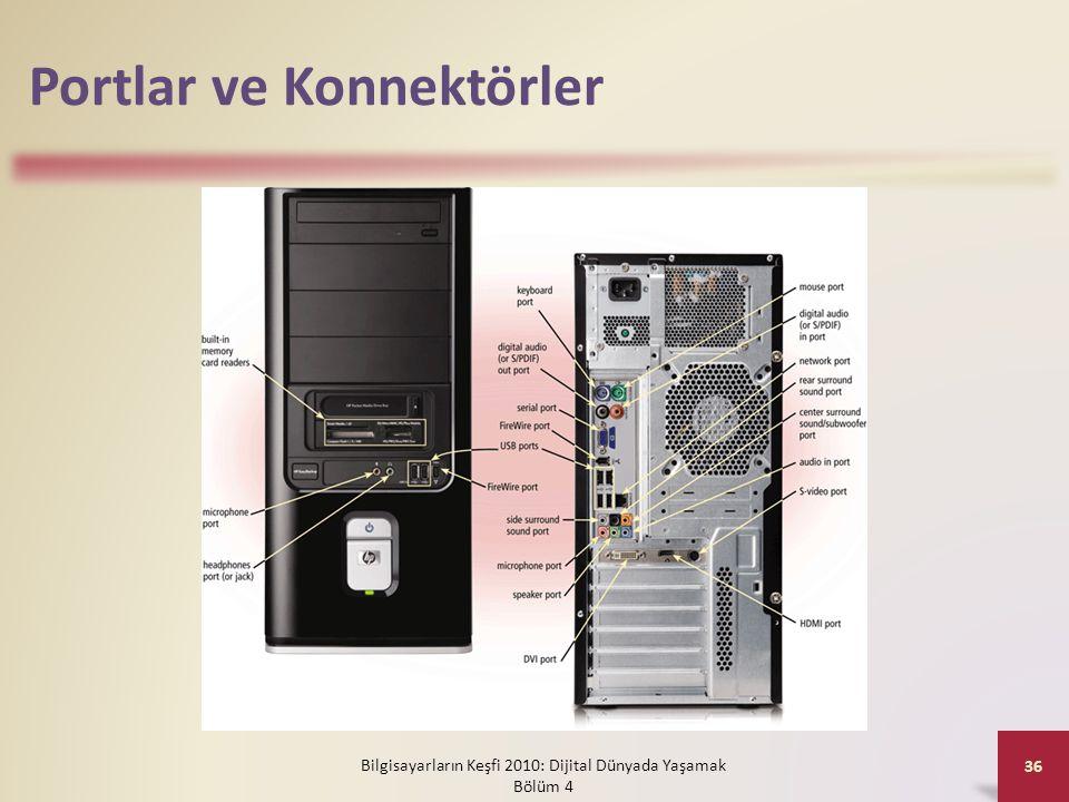 Portlar ve Konnektörler Bilgisayarların Keşfi 2010: Dijital Dünyada Yaşamak Bölüm 4 36