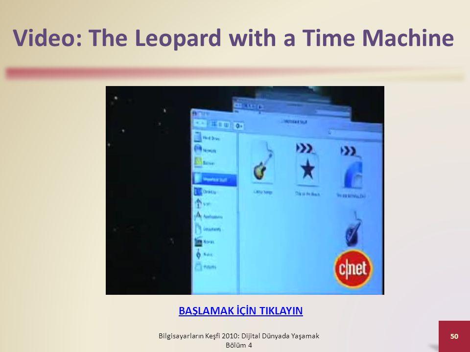 Video: The Leopard with a Time Machine Bilgisayarların Keşfi 2010: Dijital Dünyada Yaşamak Bölüm 4 50 BAŞLAMAK İÇİN TIKLAYIN