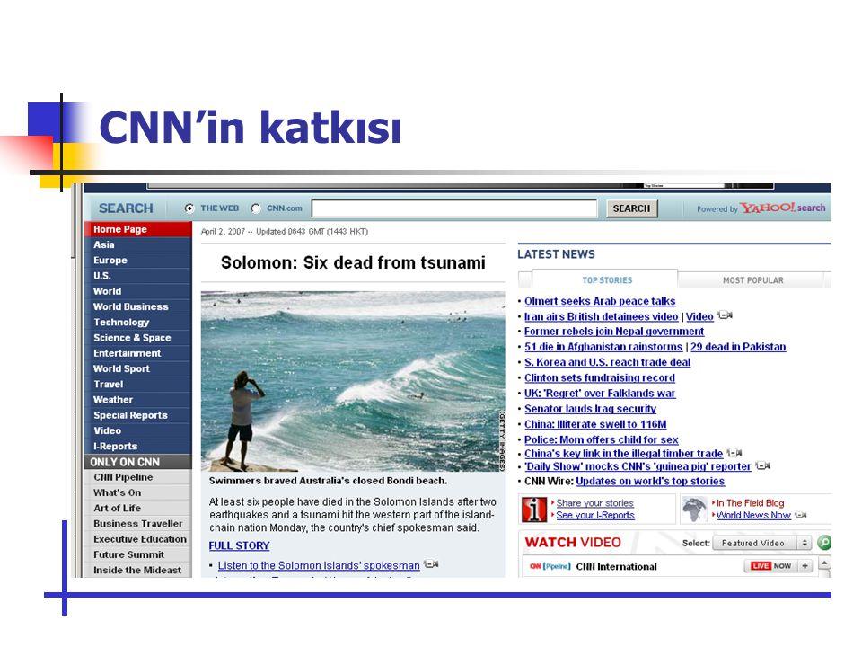 CNN'in katkısı