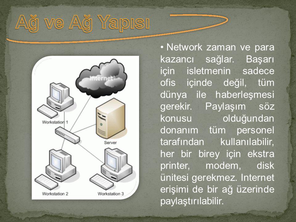 Yerel ağ (LAN), aynı yapı içindeki sınırlı bir alanda birbirine bağlanmış bilgisayarlardan oluşur.