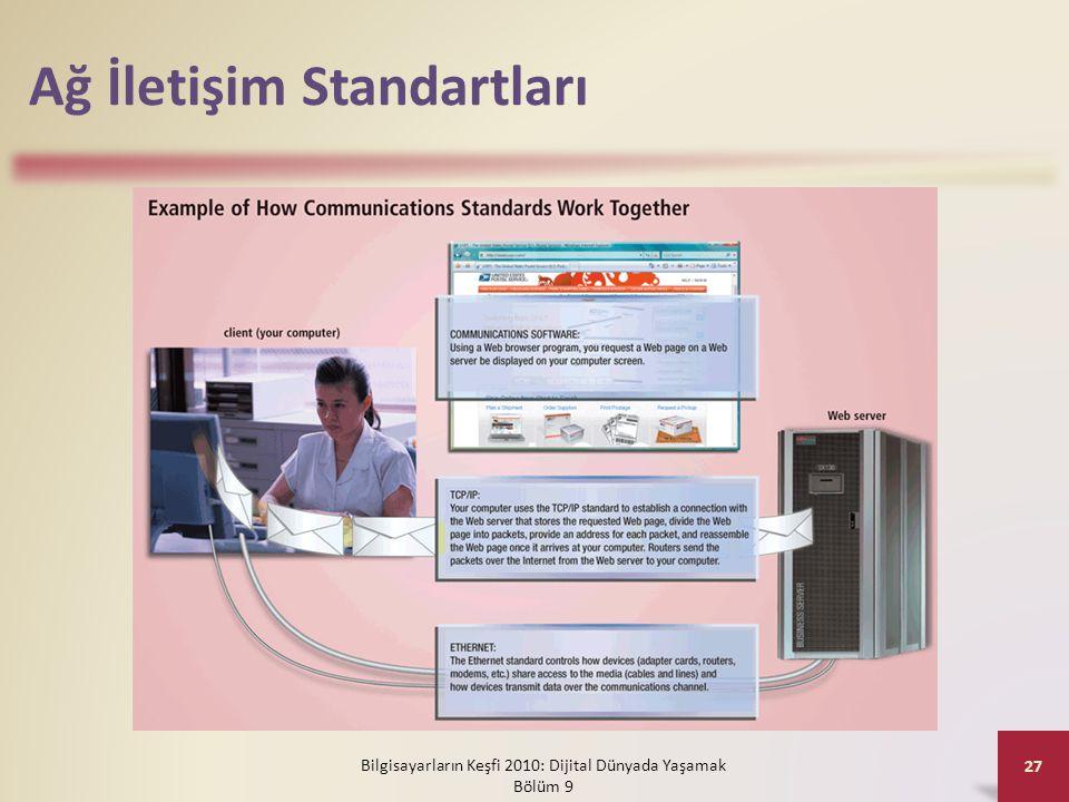 Ağ İletişim Standartları Bilgisayarların Keşfi 2010: Dijital Dünyada Yaşamak Bölüm 9 27