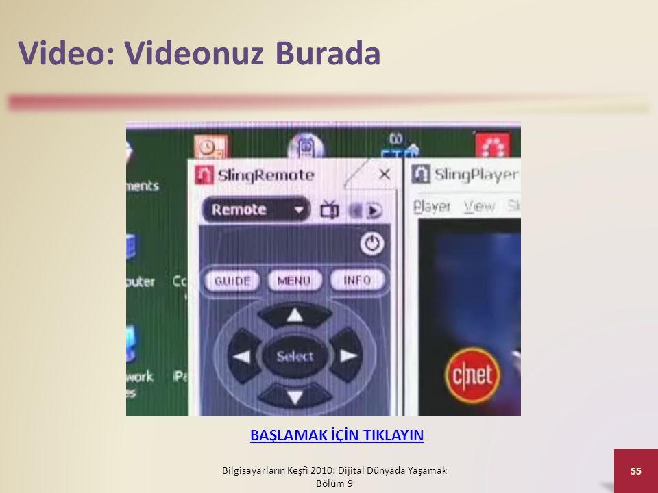 Video: Videonuz Burada Bilgisayarların Keşfi 2010: Dijital Dünyada Yaşamak Bölüm 9 55 BAŞLAMAK İÇİN TIKLAYIN