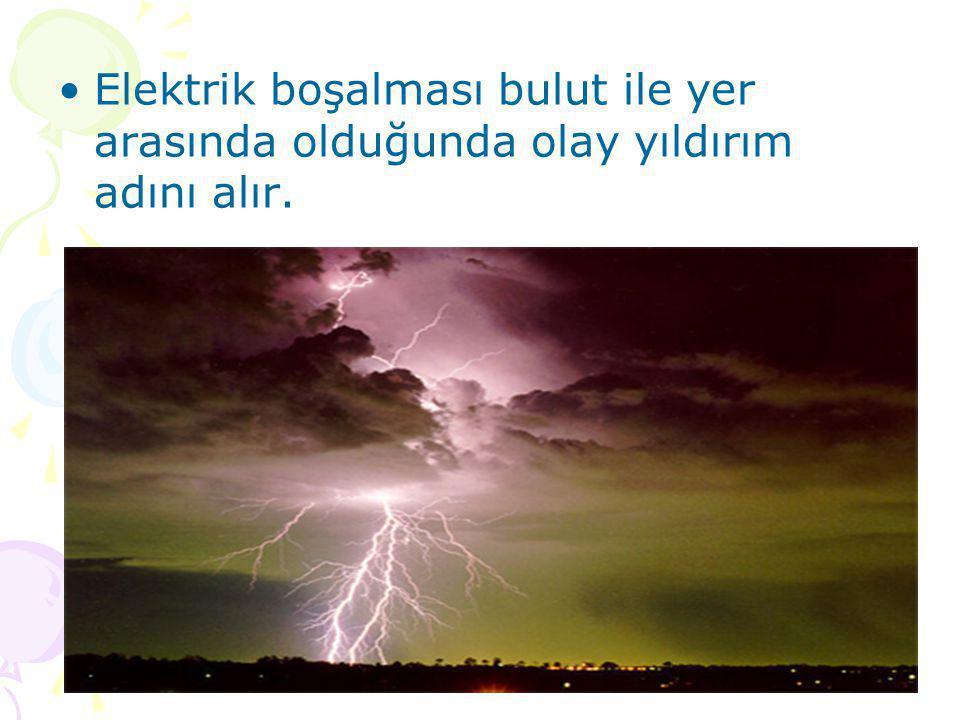www.fendosyasi.com •Elektrik boşalması bulut ile yer arasında olduğunda olay yıldırım adını alır.