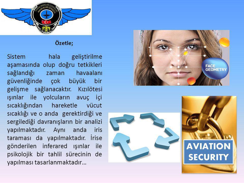 Özetle; Sistem hala geliştirilme aşamasında olup doğru tetkikleri sağlandığı zaman havaalanı güvenliğinde çok büyük bir gelişme sağlanacaktır.