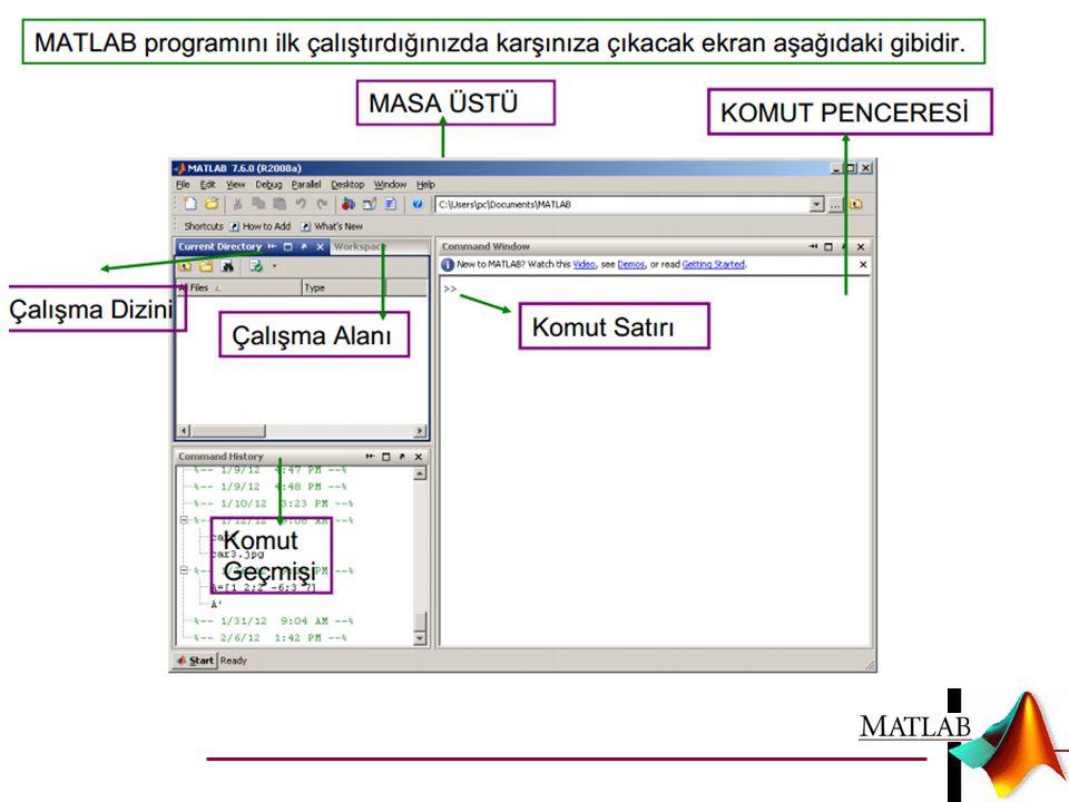  Ana program herhangi bir isimle kaydedilir ve koşturulur.