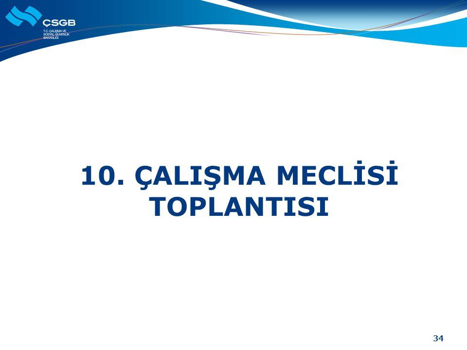 10. ÇALIŞMA MECLİSİ TOPLANTISI 34