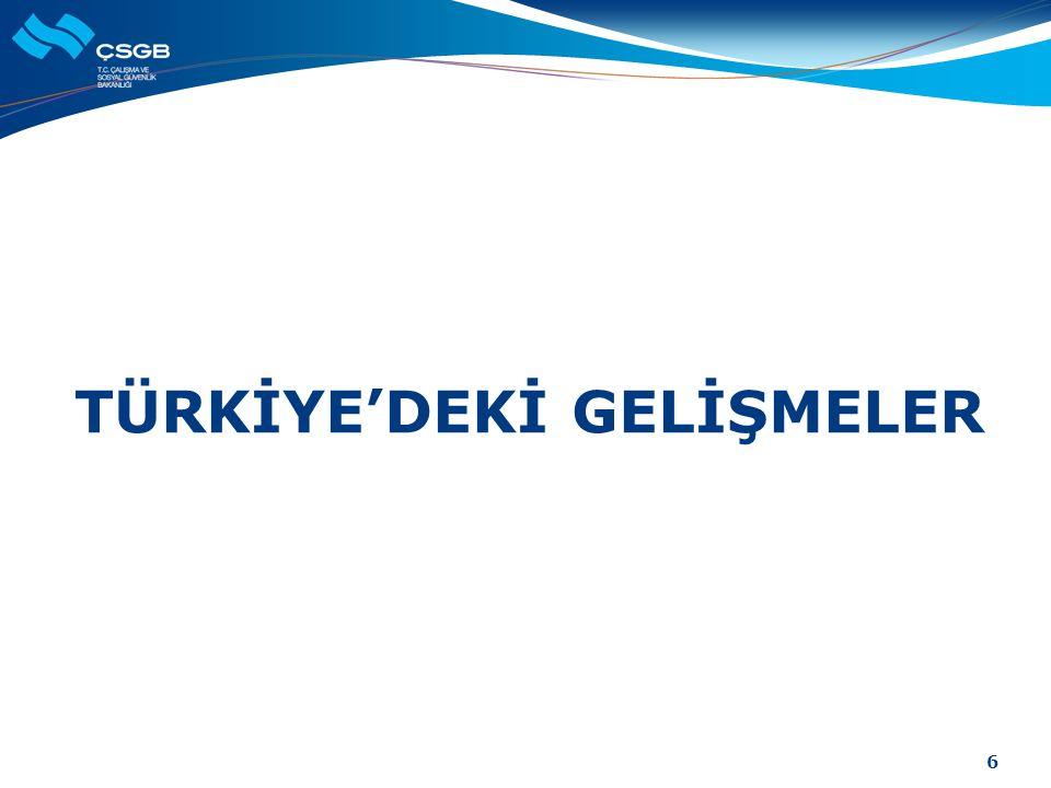 TÜRKİYE'DEKİ GELİŞMELER 6