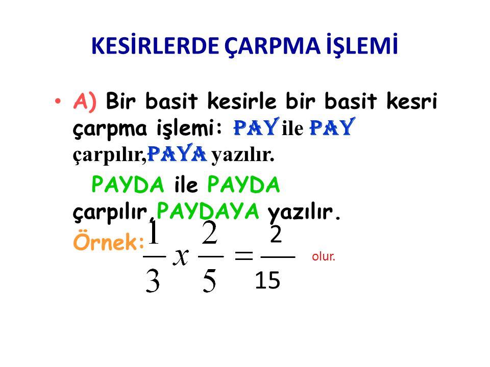 TAM SAYILI KESİRDEN TAM SAYILI KESRİ ÇIKARMA •N•N ot: Tam sayıdan tam sayı çıkarılır, tam sayı olarak yazılır. •P•P AYDAN PAY çıkarılır, PAY olarak ya