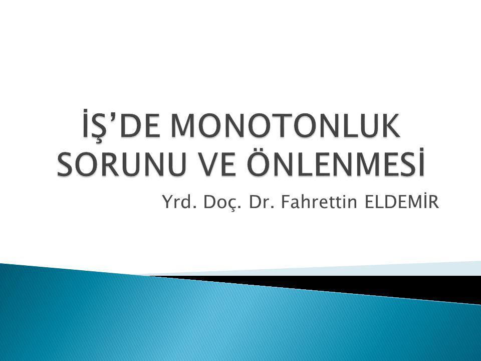 Yrd. Doç. Dr. Fahrettin ELDEMİR