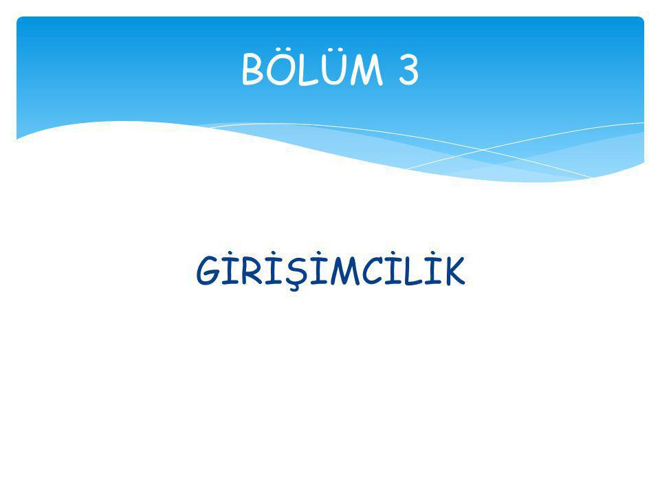 GİRİŞİMCİLİK BÖLÜM 3