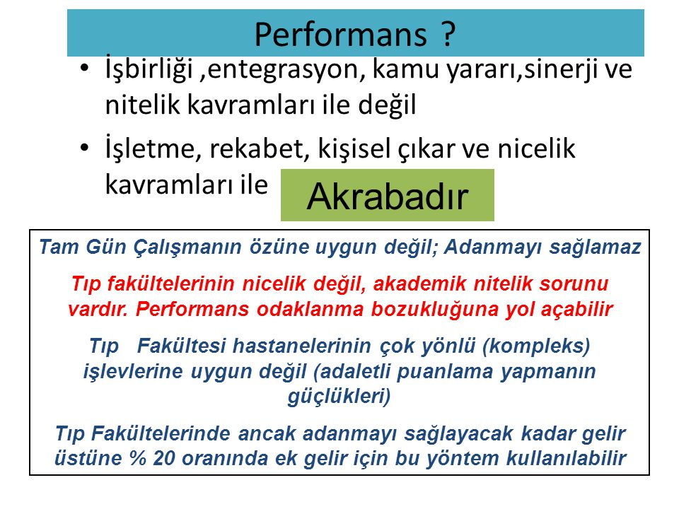 Performans .