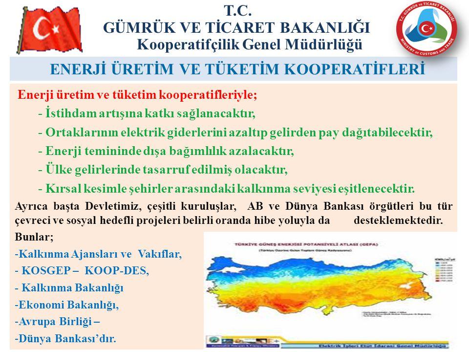 25 ENERJİ ÜRETİM VE TÜKETİM KOOPERATİFLERİ T.C.