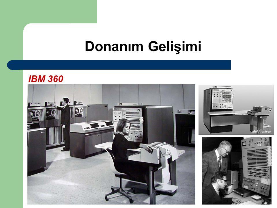 Donanım Gelişimi IBM 360