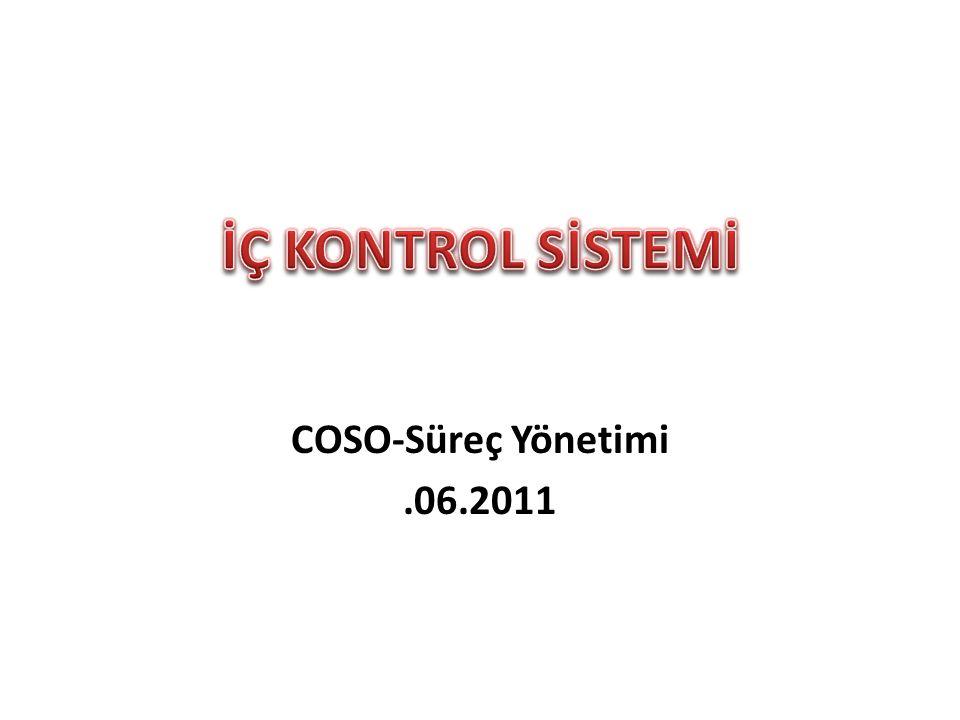 COSO-Süreç Yönetimi.06.2011