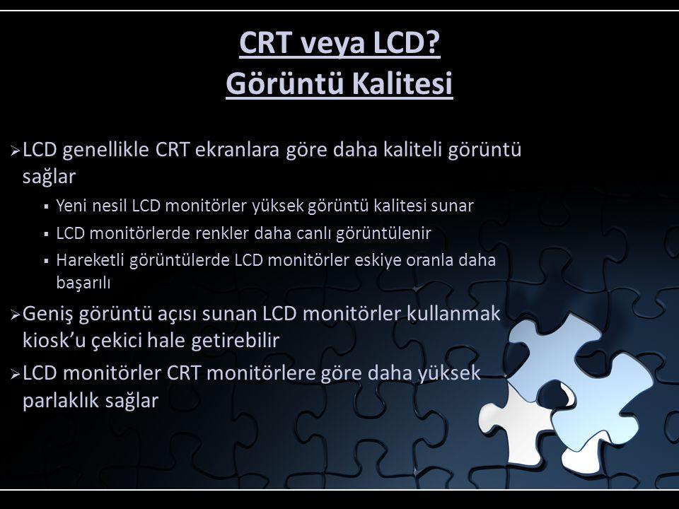 CRT veya LCD? Boyut ve Ağırlık