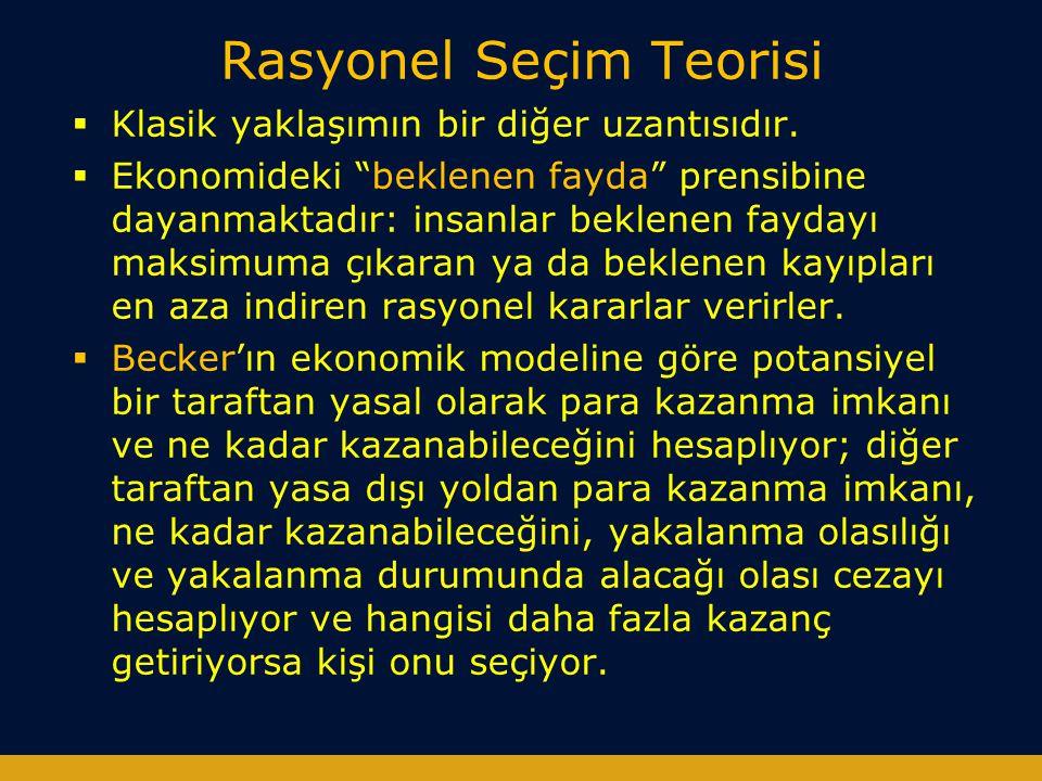 Rasyonel Seçim Teorisi  D.Cornish ve R. V.