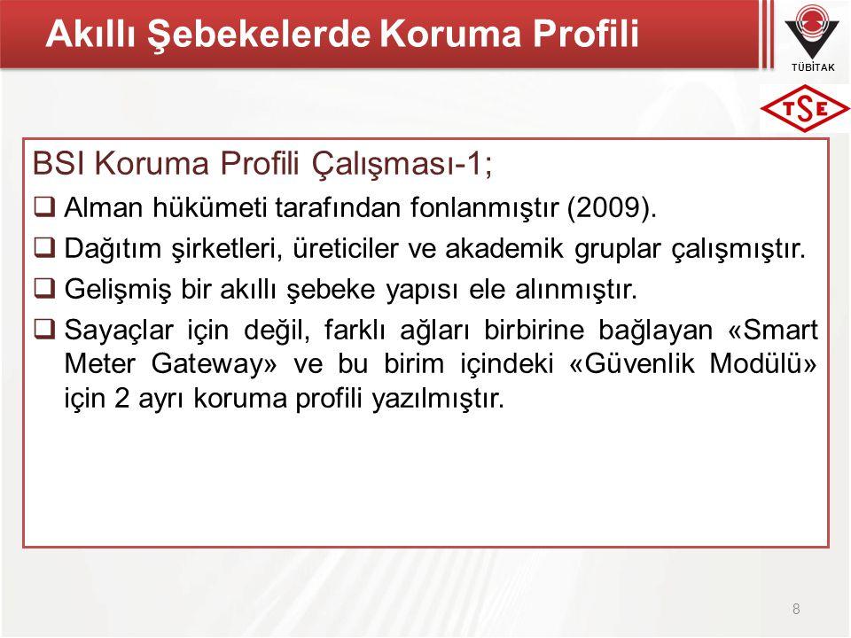 TÜBİTAK Akıllı Şebekelerde Koruma Profili BSI Koruma Profili Çalışması-1;  Alman hükümeti tarafından fonlanmıştır (2009).  Dağıtım şirketleri, üreti