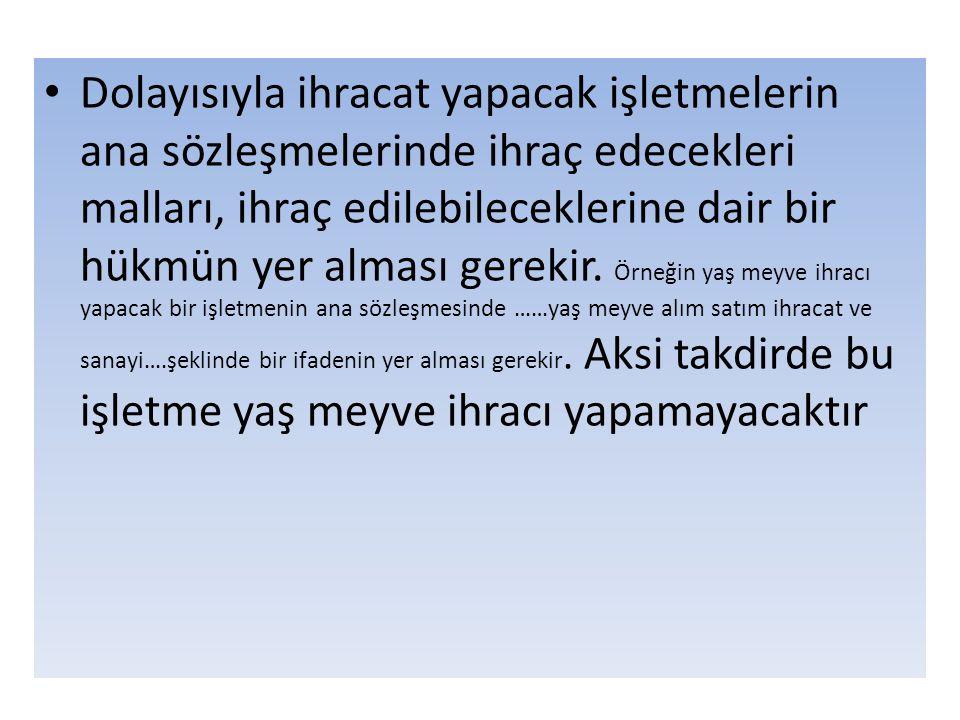 Örneğin, sözleşmede FAS, İzmir Limanı, TURKEY şeklinde yer alan ibare; satıcının malları İzmir Limanında adı geçen geminin yanına getirmesi ile sorumluluğunun sona ereceği anlamına gelir.