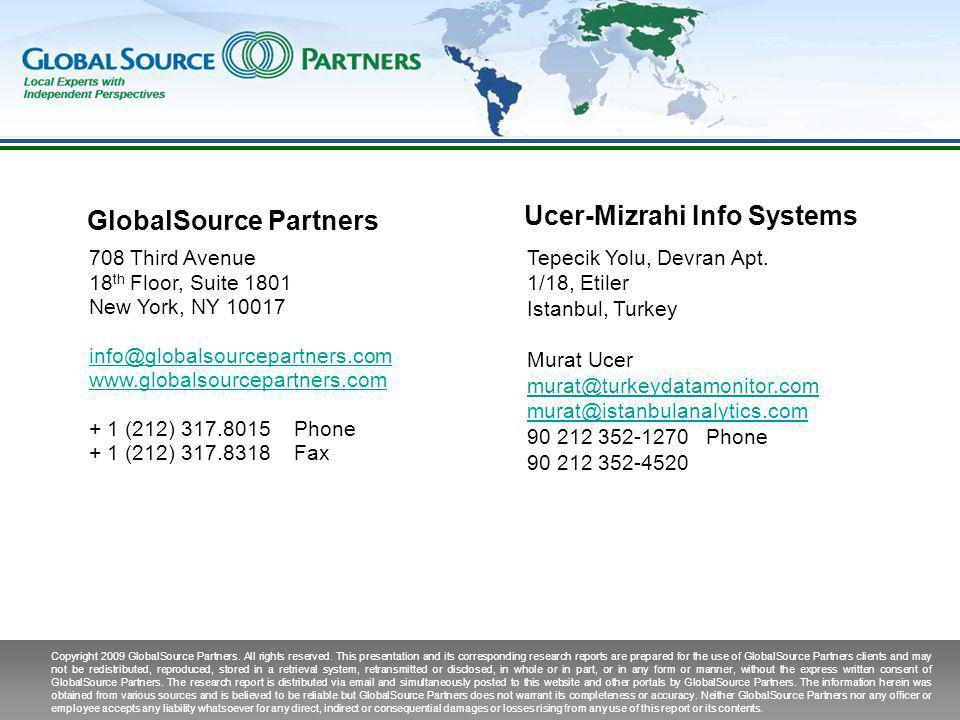 Copyright 2009 GlobalSource Partners. All rights reserved.