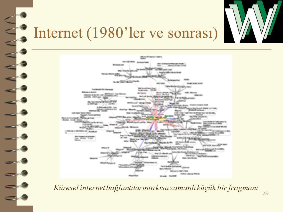 Internet (1980'ler ve sonrası) 29 Küresel internet bağlantılarının kısa zamanlı küçük bir fragmanı