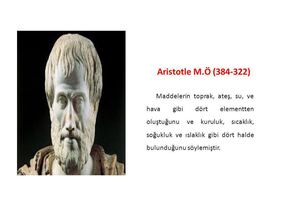Democritus M.Ö (460-400) Varlıkların bölünmeyen çok küçük parçacıklardan oluştuğunu belirterek bunlara bölünmez anlamına gelen atom adını verdi.