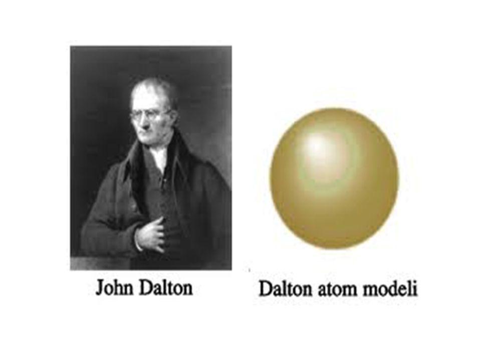 THOMSON ATOM MODELİ : Atom modellerini üzümlü keke benzetmiştir.