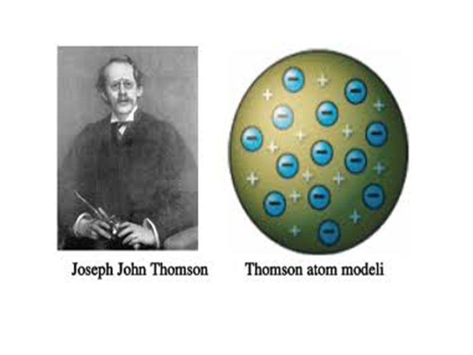 RUTHERFORD ATOM MODELİ : Güneş sistemine benzeyen atom modelidir.