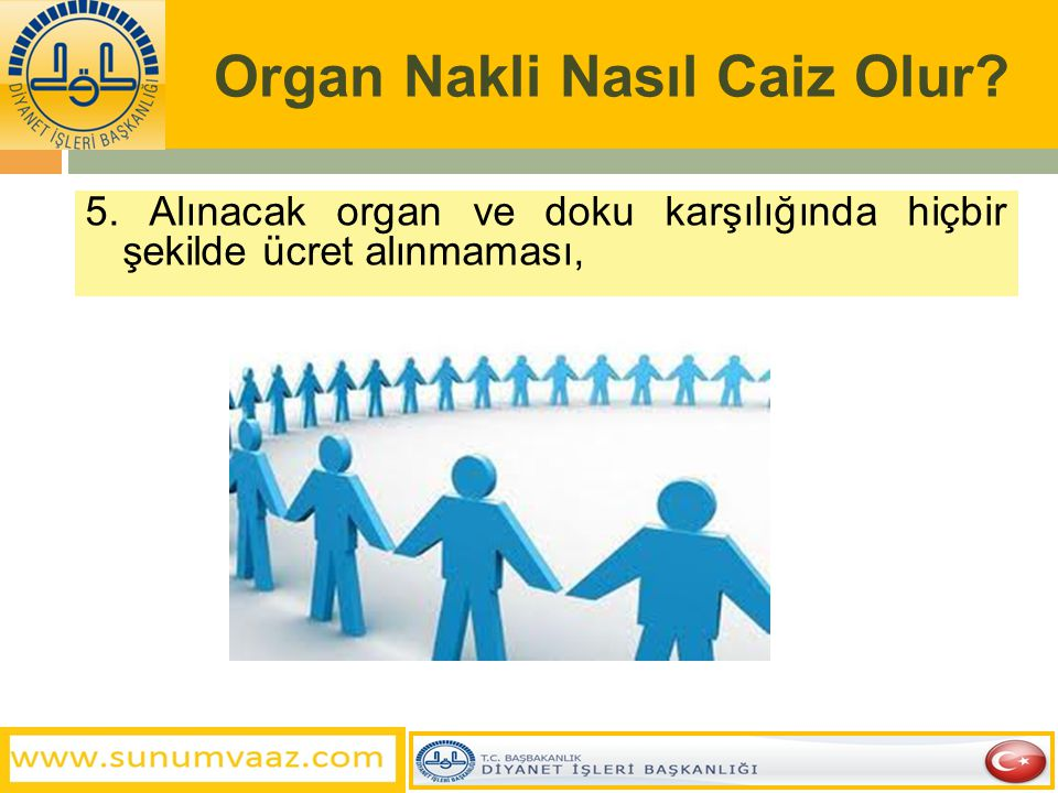 Organ Nakli Nasıl Caiz Olur? 4. Toplumun huzur ve düzeninin bozulmaması bakımından organ veya dokusu alınacak kişinin sağlığında (ölmeden önce) buna i