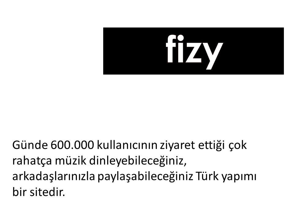 Günde 600.000 kullanıcının ziyaret ettiği çok rahatça müzik dinleyebileceğiniz, arkadaşlarınızla paylaşabileceğiniz Türk yapımı bir sitedir.