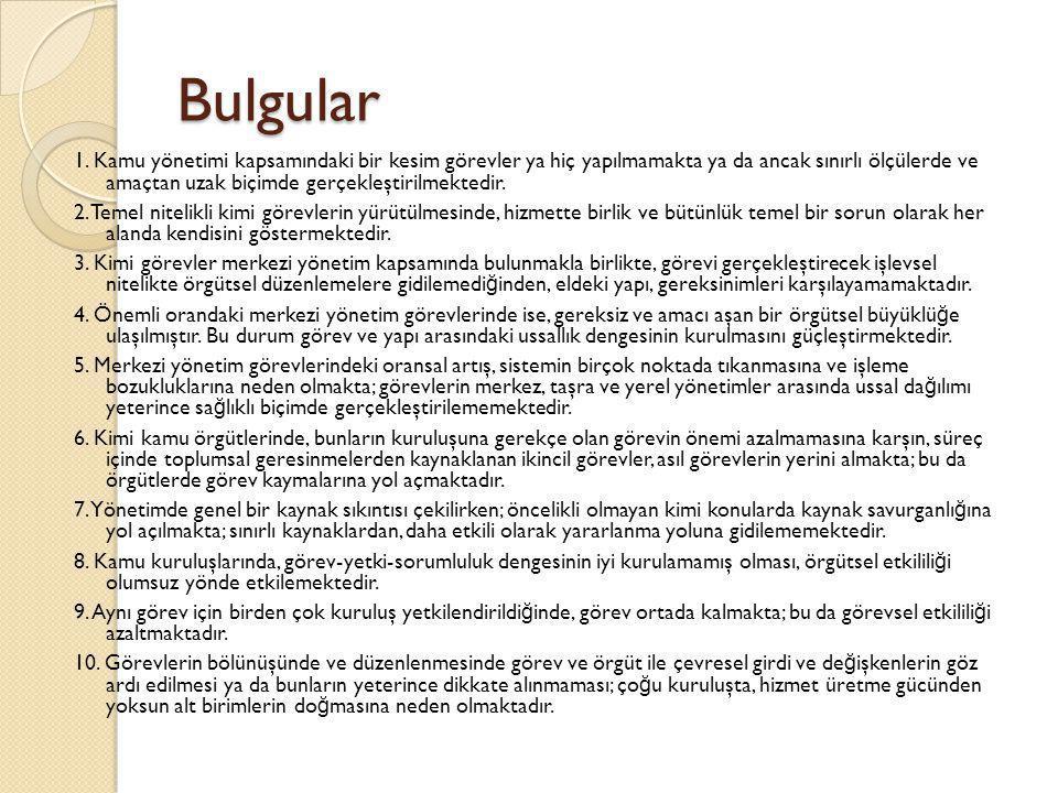 Bulgular 1.