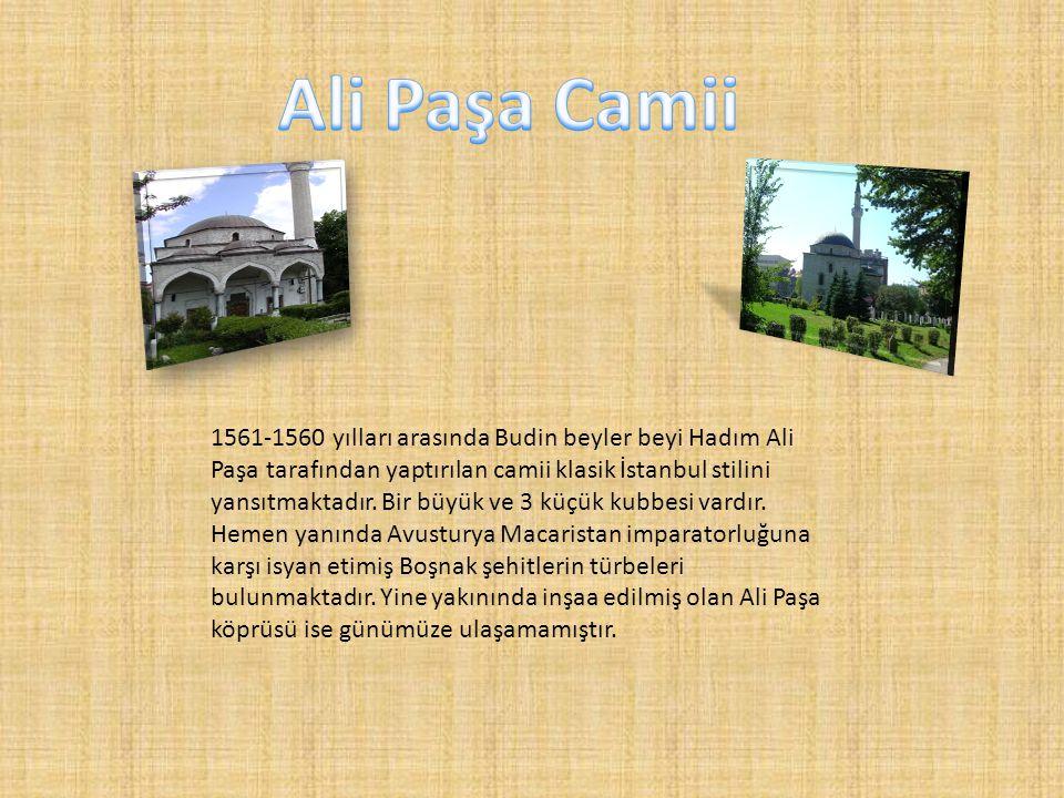 1561-1560 yılları arasında Budin beyler beyi Hadım Ali Paşa tarafından yaptırılan camii klasik İstanbul stilini yansıtmaktadır. Bir büyük ve 3 küçük k